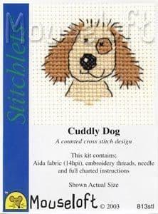 Mouseloft Cuddly Dog Stitchlets cross stitch kit